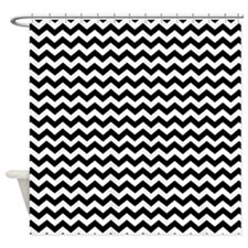 Black and White Chevrons 3 Shower Curtain