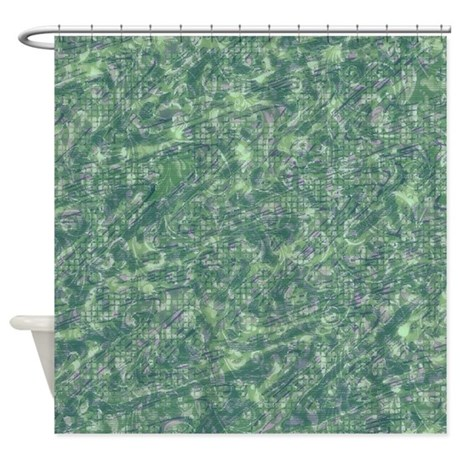 Vintage pattern green shower curtain by impressivemoments - Green curtain patterns ...