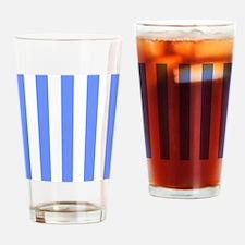 Cornflower Blue Stripes Drinking Glass
