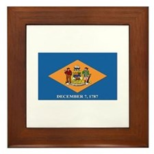 Flag of Delaware Framed Tile
