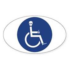 Wheelchair Oval Decal