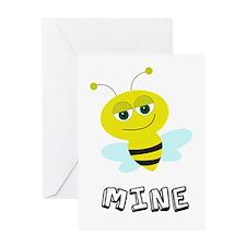 Bee Mine Card Greeting Cards