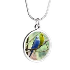 Budgie Silver Round Necklace