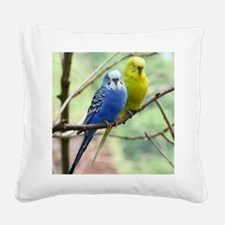 Budgie Square Canvas Pillow