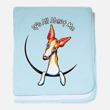 Ibizan Hound IAAM baby blanket