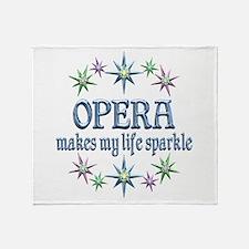 Opera Sparkles Throw Blanket