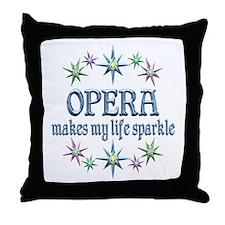 Opera Sparkles Throw Pillow