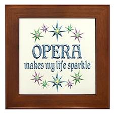 Opera Sparkles Framed Tile
