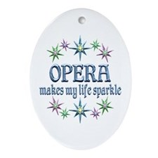 Opera Sparkles Ornament (Oval)