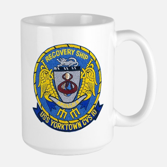 USS Yorktown Apollo 8 Large Mug