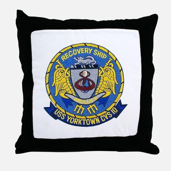 USS Yorktown Apollo 8 Throw Pillow