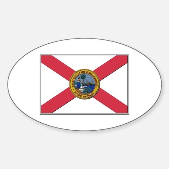 Flag of Florida Sticker (Oval)