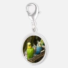 Budgie Silver Oval Charm