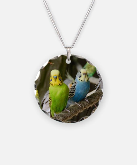 Budgie Necklace Circle Charm