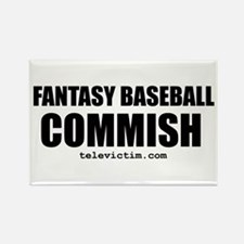 """""""COMMISH"""" Rectangle Magnet (10 pack)"""