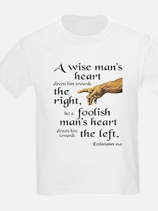 Ecclesiastes 10:2 T-Shirt