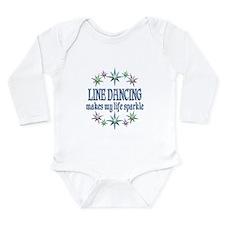 Line Dancing Sparkles Long Sleeve Infant Bodysuit