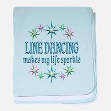 Line Dancing Sparkles baby blanket