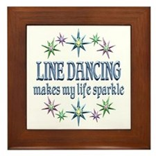 Line Dancing Sparkles Framed Tile