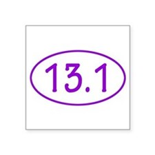 Purple 13.1 Oval Sticker Sticker