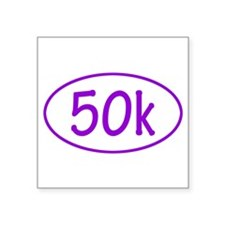 Purple 50k Oval Sticker Sticker