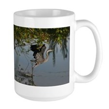 Great Blue Heron Takes Flight Mugs