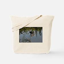 Great Blue Heron Takes Flight Tote Bag