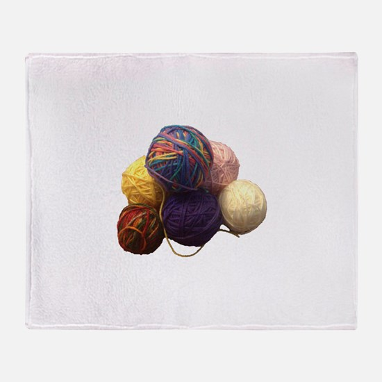 Balls of Yarn Throw Blanket