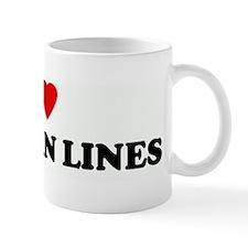 I Love SOCK TAN LINES Mug