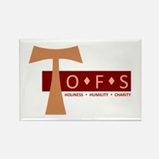 OFS Secular Franciscan Rectangle Magnet
