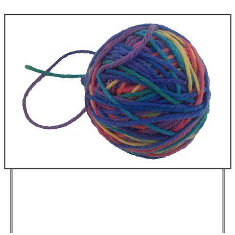 Yarn Ball Yard Sign