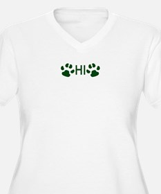 Paw Prints Plus Size T-Shirt