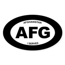 Afghanistan: I Served Bumper Stickers