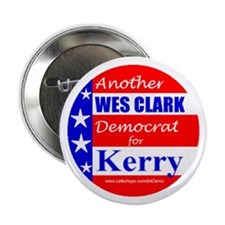 """Clark Democrat for Kerry"" Button"