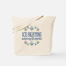 Ice Skating Sparkles Tote Bag