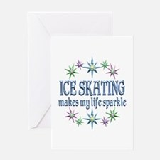 Ice Skating Sparkles Greeting Card