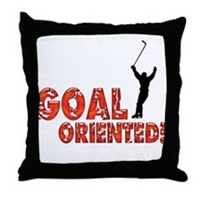 Goal Oriented Throw Pillow