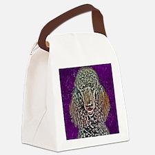Poodle Fun Canvas Lunch Bag