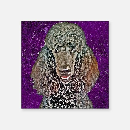 "Poodle Fun Square Sticker 3"" x 3"""