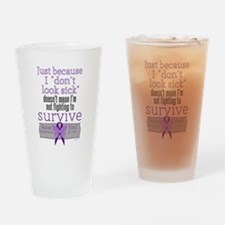 Fight to Survive Lupus Drinking Glass