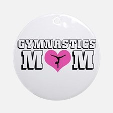 Gymnastics Mom Ornament (Round)