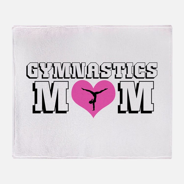 Gymnastics Mom Throw Blanket
