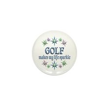 Golf Sparkles Mini Button (10 pack)