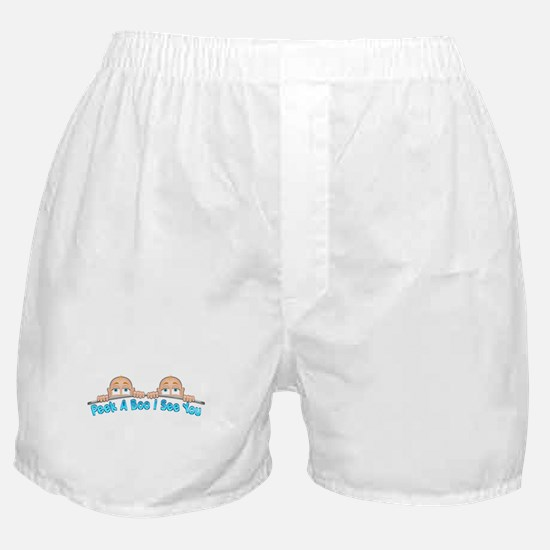 Peek a Boo I See You Baby Boo Twins Boxer Shorts