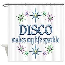Disco Sparkles Shower Curtain