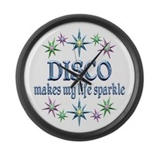 Disco Sparkles Large Wall Clock