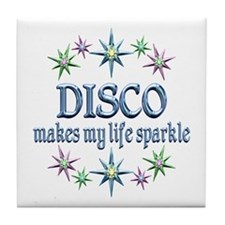 Disco Sparkles Tile Coaster