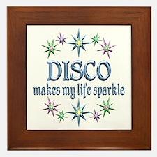 Disco Sparkles Framed Tile