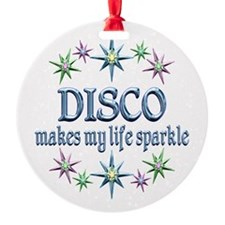 Disco Sparkles Round Ornament