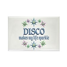 Disco Sparkles Rectangle Magnet